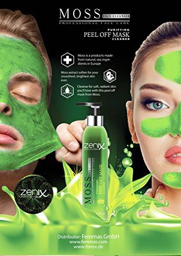 Zenix Green Moss Mask Peel - Grüne Peeling Maske gegen Pickel, Mitesser und Unreinheiten - regenerierende Peel-off Maske (1) Grüne Gesichtsmaske