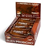 Barritas Proteinas, high protein - low carb, Energéticas de harina de grillo, proteína de insecto (12 unidades), sabor NUTMIX
