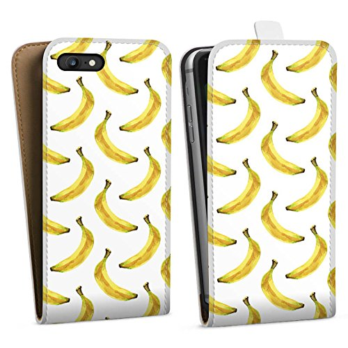 Apple iPhone X Silikon Hülle Case Schutzhülle Bananen Sommer Früchte Downflip Tasche weiß
