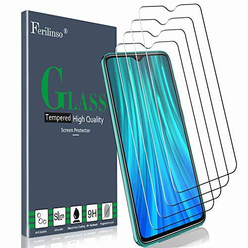 Ferilinso Cristal Templado para Xiaomi Redmi Note 8 Pro, [4 Pack] Protector de Pantalla Screen Protector con garantía de reemplazo de por Vida para Cristal Templado Xiaomi Redmi Note 8 Pro