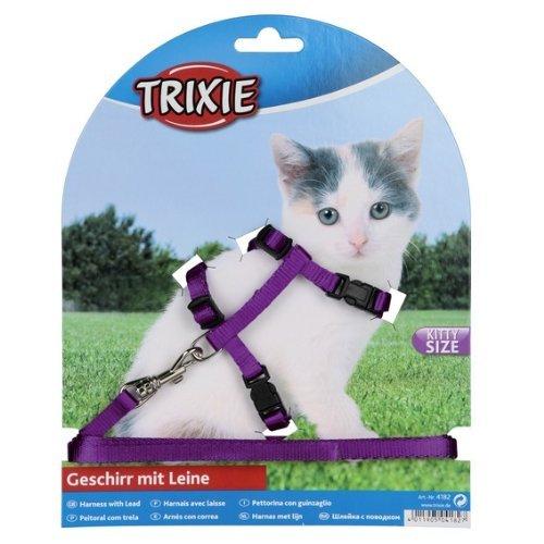 Trixie 4182 Kätzchengeschirr mit Leine, Nylon, 19-31 cm/8 mm, 1,20 m, (farblich sortiert)
