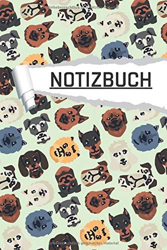 Notizbuch: Hunde Motiv liniert I DIN-A5 I 120 Seiten in Cremefarben I Journal