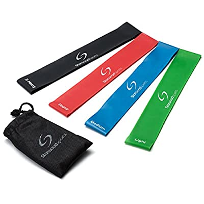 Resistance Loop Bands - Set of Exercise Bands for Improving Mobility and Strength, Yoga, Pilates or for Injury Rehabilitation - Suitable for Women and Men - Made From Natural Latex Material