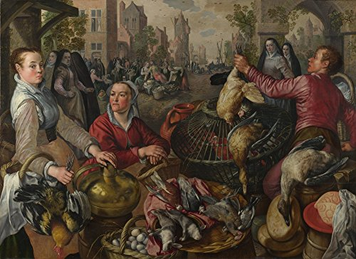 Das Museum Outlet - Joachim Beuckelaer - The Four Elements - Air, gespannte Leinwand Galerie verpackt. 29,7 x 41,9 cm - Air-galerie