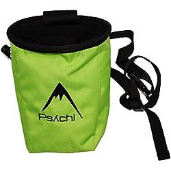 Psychi - Bolsa de magnesio con bolsillo y cinturón, color azul verde verde