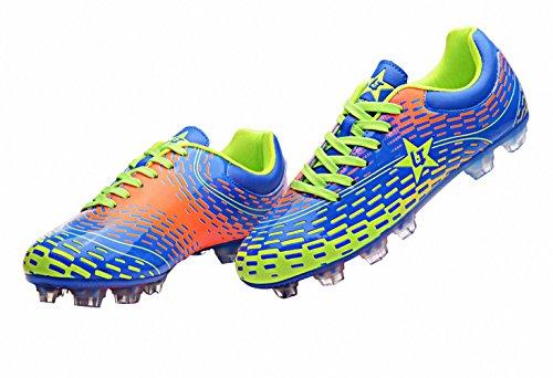 Ben Sports Tf AG FG Entraînement de Football Homme Chaussures de Football Garçon Mixte Adulte Enfant,31-44 AG/FG-Bleu