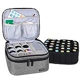Luxja Box pour Organisateur d'huile Essentielle pour Huile parfumée et Accessoires (pour 30 Bouteilles, Gris)