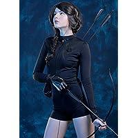 Disfraz de Katniss para mujer Disfraz de hambre negro S (UK 8-10)