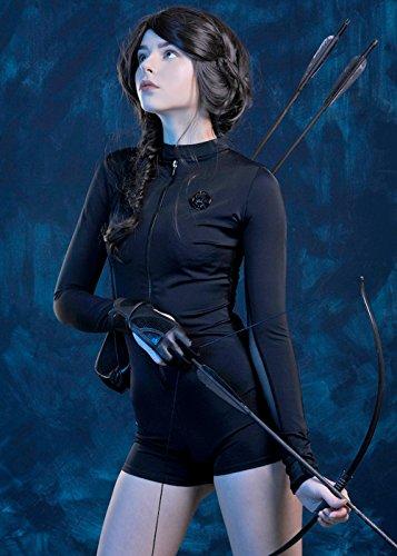 Damen Black Hunger Games Stil Katniss Kostüm S (UK ()