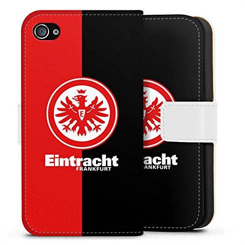 Apple iPhone 6 Tasche Hülle Flip Case Eintracht Frankfurt Fanartikel SGE Bundesliga Sideflip Tasche weiß