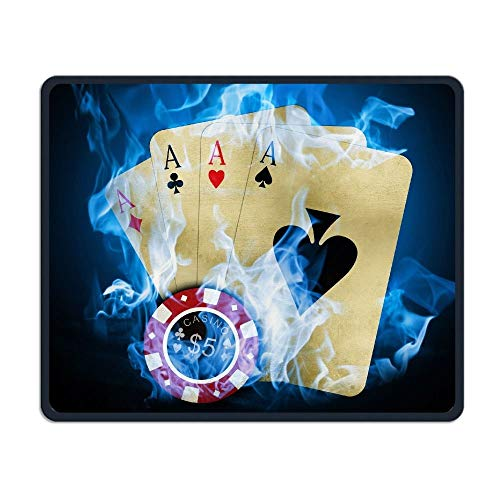 ASKSSD Mouse Pad Ace of Spades Play Card Rectangle Non-Slip 9.8in11.8 in Personalized Designs Gaming Rubber Mousepad Stitched Edges Mouse Mat