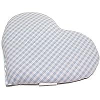 Kirschkernkissen Herz | ca. 30x25cm Bio Stoff hellblau-weiß | Wärmekissen | Körnerkissen | Ein charmantes Geschenk preisvergleich bei billige-tabletten.eu
