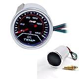 THG los 52MM de aceite de temperatura Medidor de 12V CC autom¨¢tico de medidores