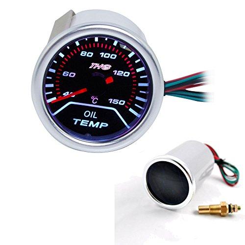 THG Temp Aceite Gauge DC12V Automš¢tica medidores