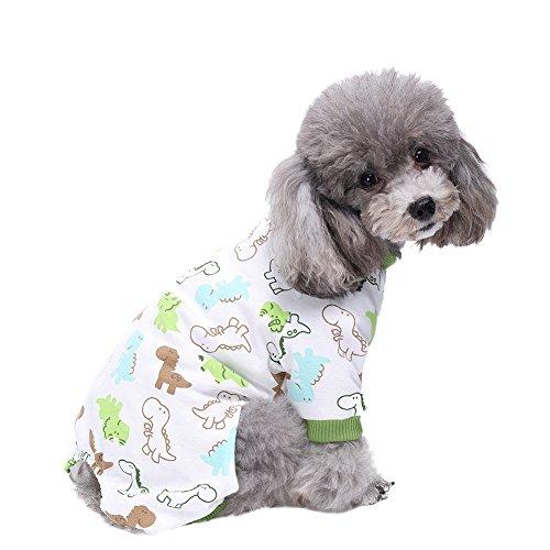 Handfly Per Hunde/Katze Pyjamas mit Kleine gelbe Ente Muster und Four Feet Design, Weich Alle Jahreszeiten Haustier Schlafanzug Jacken für Kleine und Mittelgroße Hunde - XS/S/M/L/XL (Schlafanzug Bestickte)