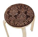[Kaffee] Samt runde Hocker Abdeckung Hocker Kissen Bar Hocker Mat Sitz Sitz Pad