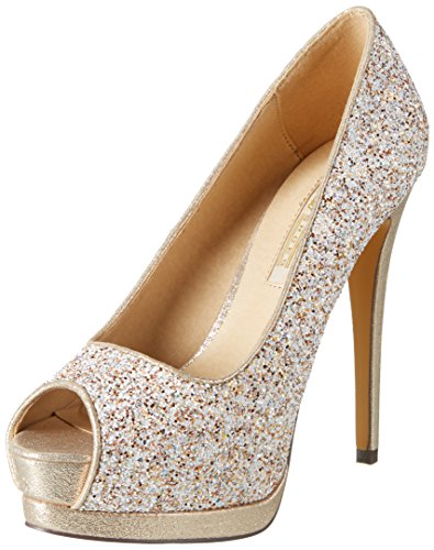 Buffalo Shoes Damen Glitter Pumps, Weiß (White 55)