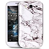 Cover Galaxy S3 Custodia,Cover Galaxy S3 Neo Custodia,Modello Lucido marmo Ultra Sottile TPU morbida Custodia in Silicone Gel Custodia Case Cover per Galaxy S3/S3 Neo Custodia,Bianco nero Marble