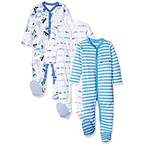 Mothercare Baby Boys' Blue Crew Sleepsuit
