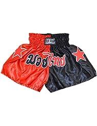 Duo Gear Boys 'MUAY THAI y KICKBOXING pantalones cortos de boxeo, Niños, color Red/black, tamaño XL