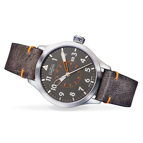 Davosa Automatic Neoteric Pilot Orange Brown Wrist Watch