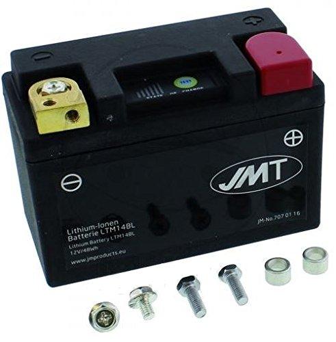 Preisvergleich Produktbild Lithium-Ionen Motorrad Batterie LTM14BL JMT Lithium-Ionen mit Anzeige Wasserdicht