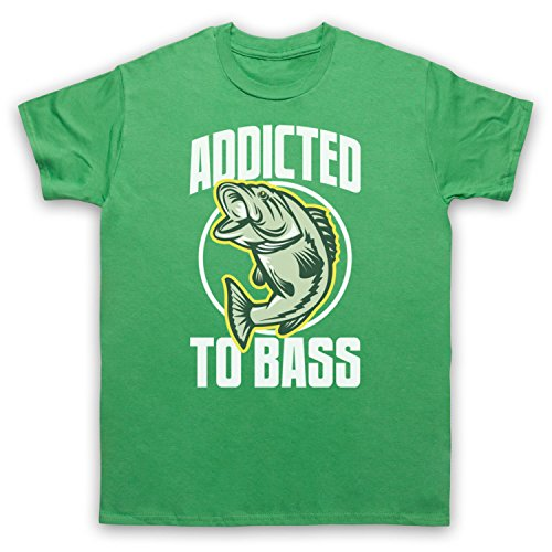 Addicted To Bass Bass Fish Herren T-Shirt Grun