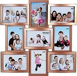 JaipurCrafts Premium Collage Photo Frame (Photo Size - 4 x 6, 9 Photos)