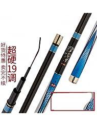 ZHUDJ El Carp Rod Es 5,4 M 19 Atletismo Super Dura Vara Del Carbono Carp Fishing Rod Cañas De Pescar,Super Duro, 19 Tonos, 4,5 Metros