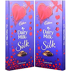 Cadbury Dairy Milk Silk Chocolate Special Valentine Pack, 250g (Pack Of 2)