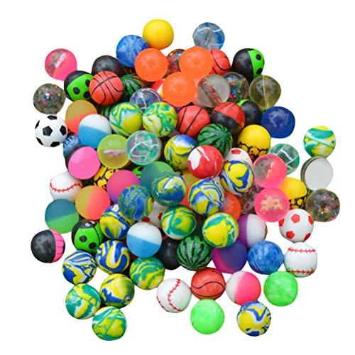 NUOBESTY 40 stücke Bouncy Balls Gummi-springende Bälle Bunte Hohe Bouncing Balls für Kinder Party Favors (Zufälliger Stil)