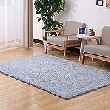 HYRL Carpets Teppiche Soft Indoor Modern Fluffy Für Wohnzimmer Teppiche Geeignet Für Kinder Schlafzimmer Home Decor Kinderzimmer Teppiche,Silvergrey,2X3m