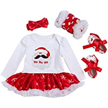 Conjunto Bebé Navidad - Halloween Fiesta Mangas Largas Pelele Falda Estilo de Vestido para Niña Recién