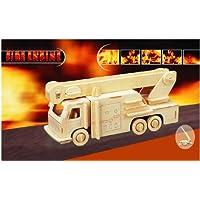 Comparador de precios Puzzled Fire Engine 3d Natural Wood Puzzle by Puzzled - precios baratos