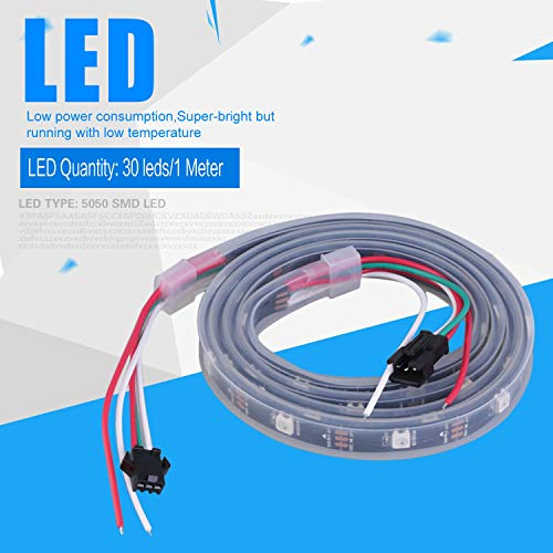 Preisvergleich Produktbild WS2812B 5050 RGB LED Streifen 1M 30 LED Individuell adressierbare Streifen Licht,  schwarz