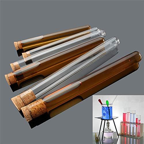 ChaRLes 10 Pcs Labor Glas Testtube Mit Kork Stopperlabor Schule Pädagogische Liefert 3 Größen - #2