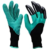Vonimus Garden Genie Gloves with Right Hand Sturdy Claws,Quick & Easy to Dig & Plant Nursery Plants, 1 Pair
