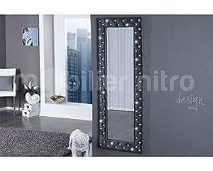 Miroir capitonné Baltimore gris