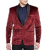 #10: Wintage Men's Premium Velvet Notch Lapel Tuxedo Coat Blazer Jacket