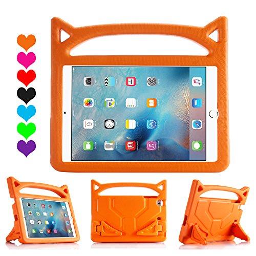 iPad 9,72018& 2017/iPad Pro 9,7/iPad Air/iPad Air 2Hülle, lmaytech Leichtes stoßfest Cartoon Kids Schutzhülle für iPad Air/Air 2/iPad Pro 9,7und iPad 9,72018& 2017 iPad Case Orange