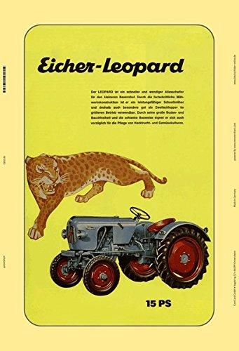 schlepper traktor trekker schild aus blech, metal sign, tin (Leopard Dekorationen)