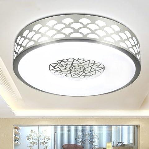 GQLB Deckenleuchte Traum super helle LED hochwertiges Aluminium lampe Acryl Decke lampe Wohnzimmer Restaurant lampe Zimmer Schlafzimmer Balkon Lampe, 36 Watt 50 cm