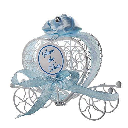 Sulifor 1 stück Neue Süßigkeitskästen Romantische Wagen Süßigkeiten Pralinenschachtel Hochzeit Party Favors