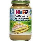 Hipp Weiße Karotte mit Rahmgemüse und Bio-Hühnchen, 6er Pack (6 x 0.22 kg)