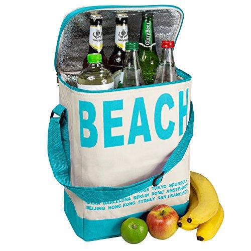 Glorytec xxl borsa termica blu - borsa frigo 28x18,5x35cm 20 litri - frigo portatile pieghevole perfetto per campeggio e barbecue - borsa da picnic