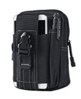 FreeMaster Tactical Pouch Molle Compact Water-resistant EDC Utility Gadget Gear Tools Organizer pack Holster for Key chain Flashlight cell phone (Black)
