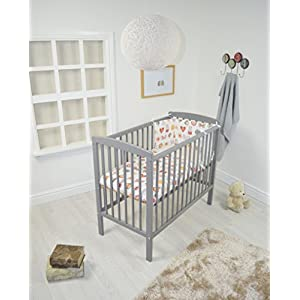 A B C SPACE SAVER COT / SMALL - LITTLE COT - MINI COT / GREY + MATTRESS GUYUE Beech Material: Birch wood hard, good load bearing performance, no deformation, strong pressure resistance, clear texture. High-grade PU Leather: It has excellent wear resistance, excellent breathability, aging resistance, soft and comfortable. Size: As shown, 80x56x(80-85-90-95)cm, Bearing weight 150kg. 11