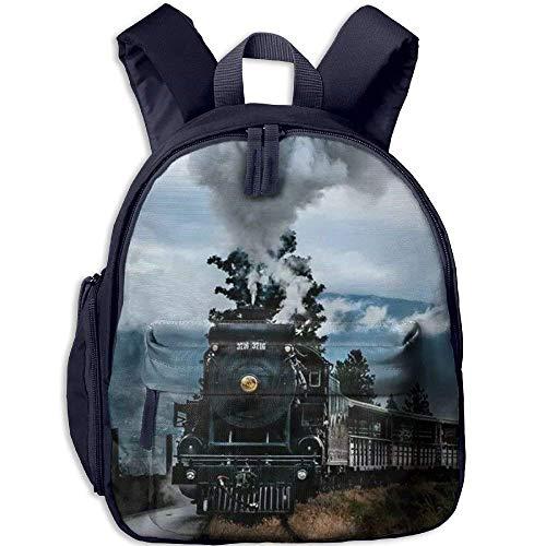 Kindergarten Boys Girls Backpack Old Train School Bag