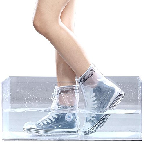 HHBO Rivestimento impermeabile riutilizzabile Custodie per scarpe da donna resistenti alle scivolature rose red