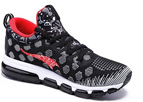 onemix Sportschuhe Laufschuhe Air Casual Sport Fitnessschuhe Trainers Schuhe Running Indoor Herren Damen Schwarz